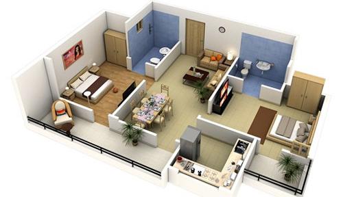 15 mẫu nhà 2 phòng ngủ khiến nhiều người mê mẫn